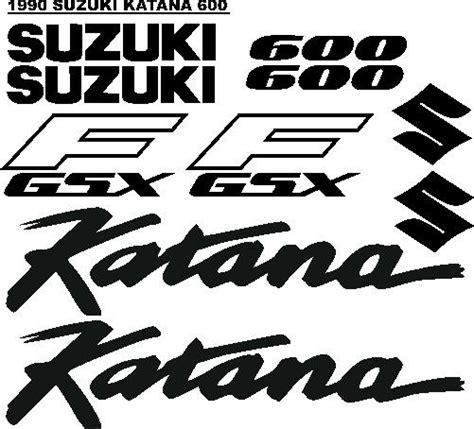 Suzuki Katana Logo 1990 Suzuki Gsxf Katana 600 Graphics Stickers Decals Sets