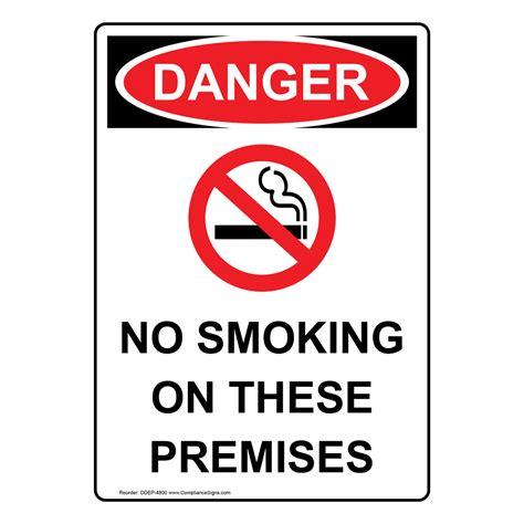 no smoking sign osha portrait osha no smoking on these premises sign with