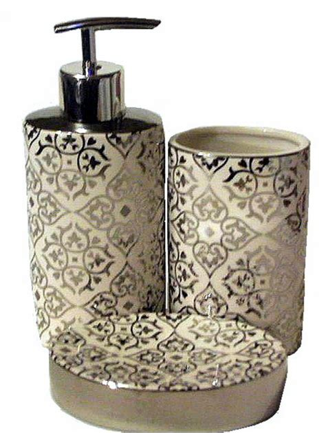 mirrored bathroom accessories sets white bath accessories silver mirror scrolling 3 pc set