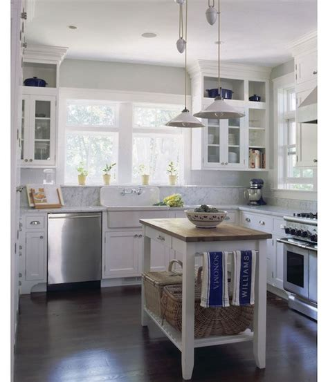 u shaped kitchen with freestanding butcher block top source smith river kitchens website fabulous u shaped