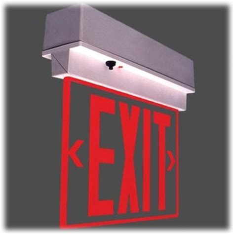 exit sign light combo exit sign with emergency lights iron blog