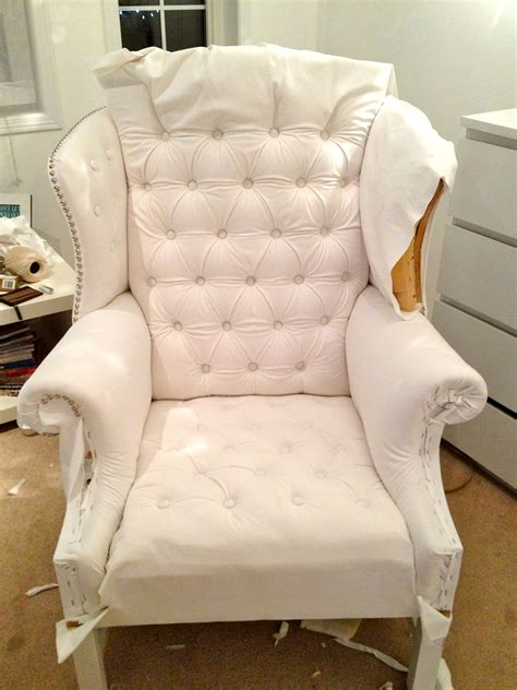 wingback chair upholstery ideas how to reupholster a tufted wing chair chairs seating