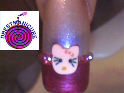 nail art tutorial hello kitty french tips hello kitty french manicure nail art gallery