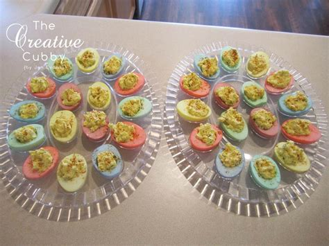 colored deviled eggs for easter the creative cubby easter colored deviled eggs