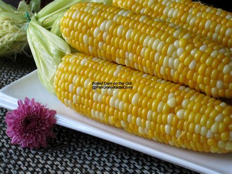 pan gravy kadai curry boiled corn on the cob