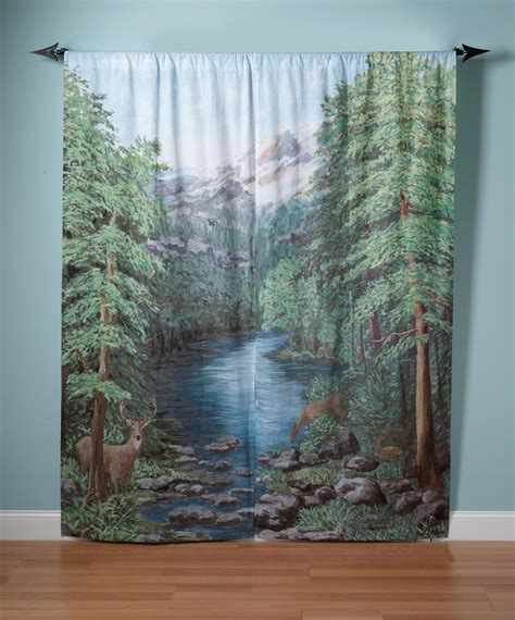 woodland curtains woodland crossing panel 72x84 home home decor window