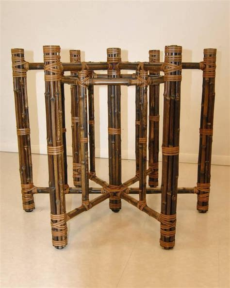 rattan bent wood dining table with glass top glass top rattan dining table by mcguire at 1stdibs