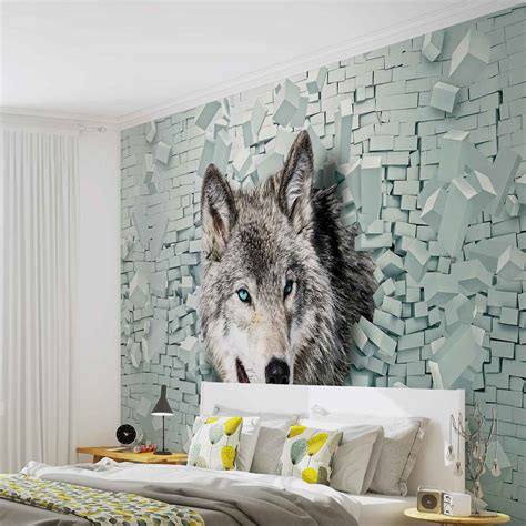 animal wall mural wolf animal wall mural photo wallpaper 2941dk ebay