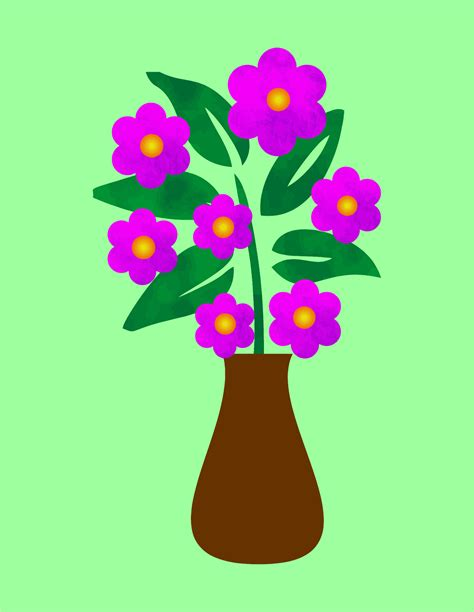 Flowers In A Vase Clipart by Clipart Blue Flowers In A Vase