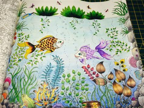 secret garden colouring book fishpond 1000 images about fundo do mar jardim secreto on