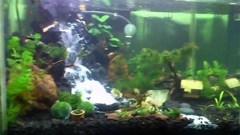 Membuat Air Terjun Aquascape Youtube | cara membuat air terjun untuk aquarium aquascape youtube
