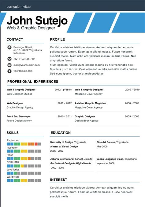 1 page cv template word elegante one page one page resume template