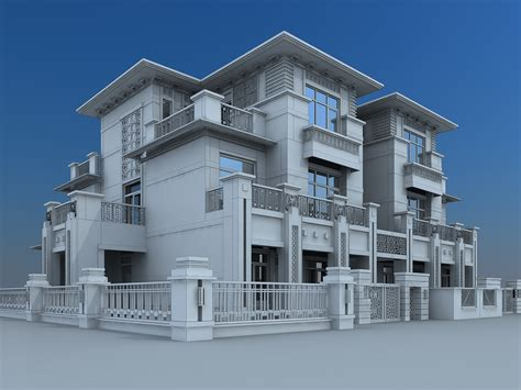 Home Builder Design Studio Jobs by Villa Building 3d Model Max Cgtrader Com