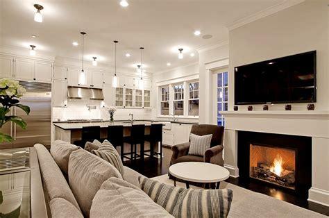 Decorating Ideas For Family Room Kitchen Combination 简欧壁炉电视背景墙装修效果图 土巴兔装修效果图