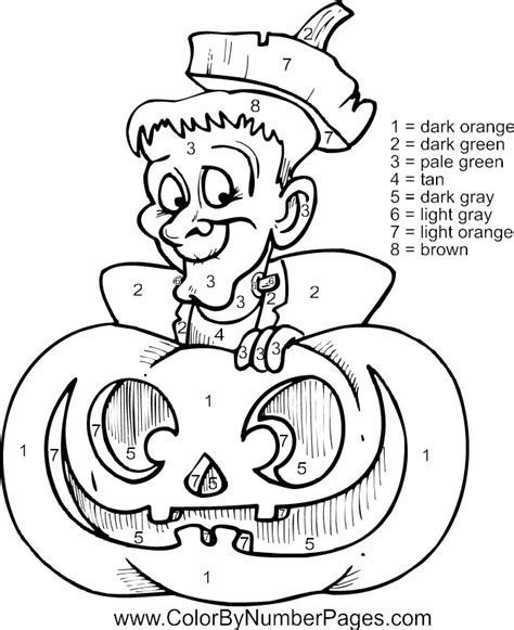 Halloween Coloring Pages Numbers | free coloring pages of halloween numbers