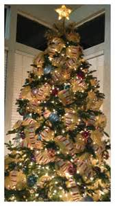 mesh and ribbon christmas tree holidays pinterest