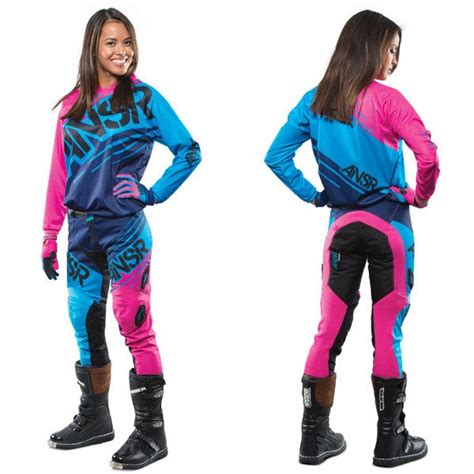 girls motocross gear answer racing women s syncron wmx off road mx gear set