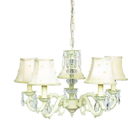 Ivory Chandelier Ivory 5 Arm Glass Turret Chandelier Optional Ivory Shades