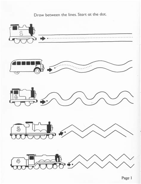 printable worksheets tracing lines preschool transportation printables book covers