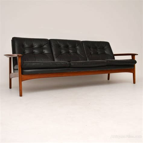 Danish Teak Retro Leather Sofa Vintage 1960 S Antiques Atlas Leather Retro Sofa