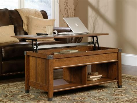 Carson Forge Coffee Table Sauder Carson Forge Lift Top Coffee Table Turns Your Living Room Into An Office Getdatgadget