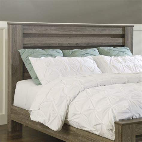 King Wood Headboard Zelen Wood King California King Rail Panel Headboard In Brown B248 68