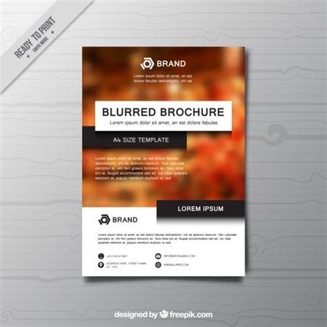 elegant business brochure template vector free download