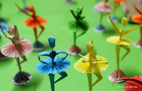 Origami Ballet Dancer - folk origami dancers 1 chinadaily cn