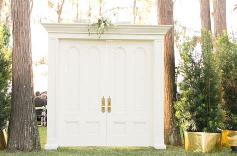 Wedding Doors by Residence A Mint And Gold Wedding A Chair