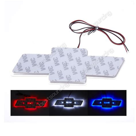 white light for car red blue white led car decal logo light emblem sticker