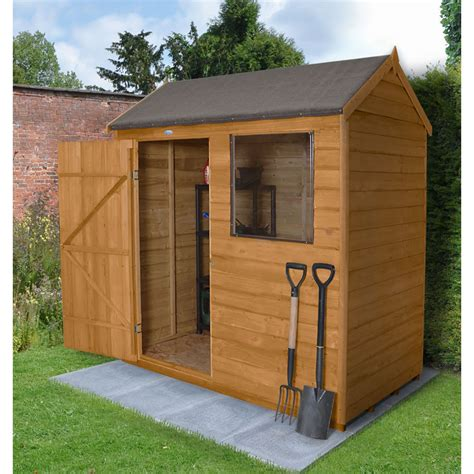 6 X 4 Shed Wickes by Forest Garden Overlap Garden Shed 6 X 4 At Wilko