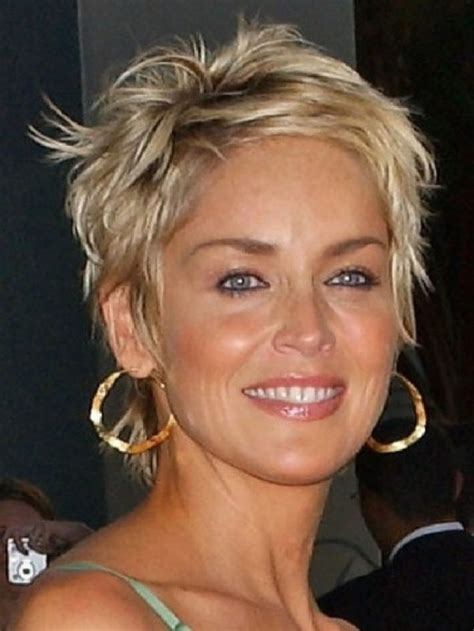 sharon stone new haircut 2014 coiffures sharon stone and coup 233 on pinterest
