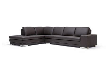 left facing chaise sectional callidora brown leather sectional sofa with left facing