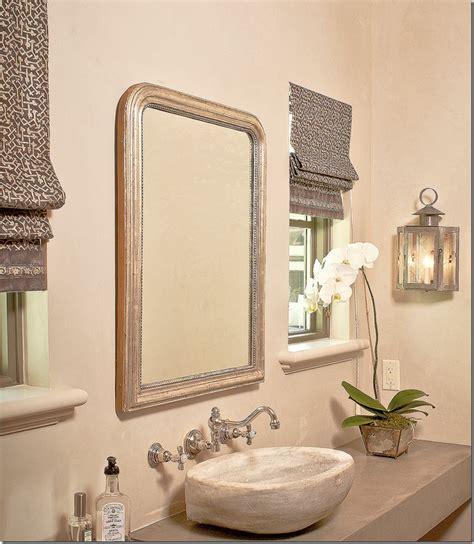 Owens Design Via Cote De Texas Roman Shades And Light Bathroom Fixtures Tx