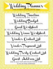 printable wedding planner for bridesmaids free printable wedding planner includes timeline budget