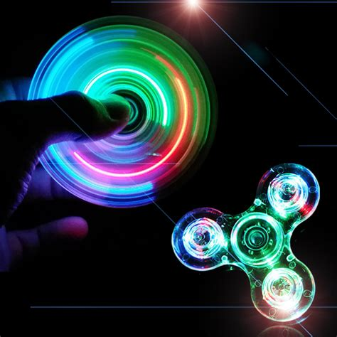 Terbaru Fidget Spinner Led Bunga Glow In The aliexpress buy new light fidget spinner led stress spinners glow in the figet