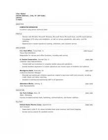 Resume Sle For Computer Technician by The Most Amazing Resume Sle For Computer Technician Resume Format Web