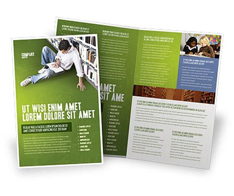self education brochure template design and layout