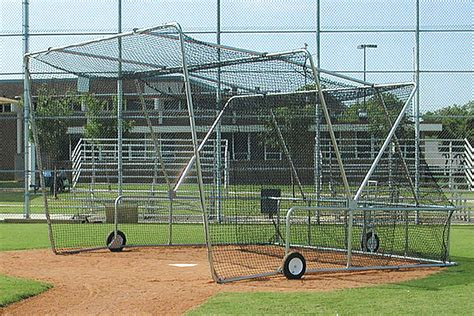 folding portable backstop batting practice batting cage