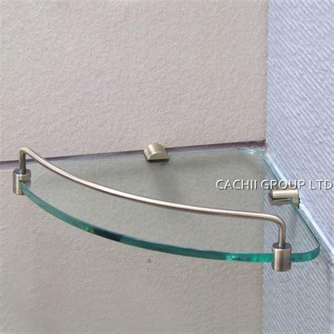 Shower Glass Corner Shelf by Antique Brass Single Layer Shower Room Storage Glass