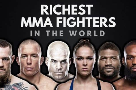 the top 20 richest mma fighters in the world 2017 wealthy gorilla