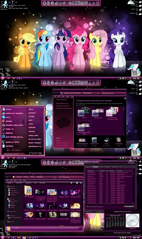 themes for windows 7 free download deviantart my little pony theme windows 7 by thebronified on deviantart