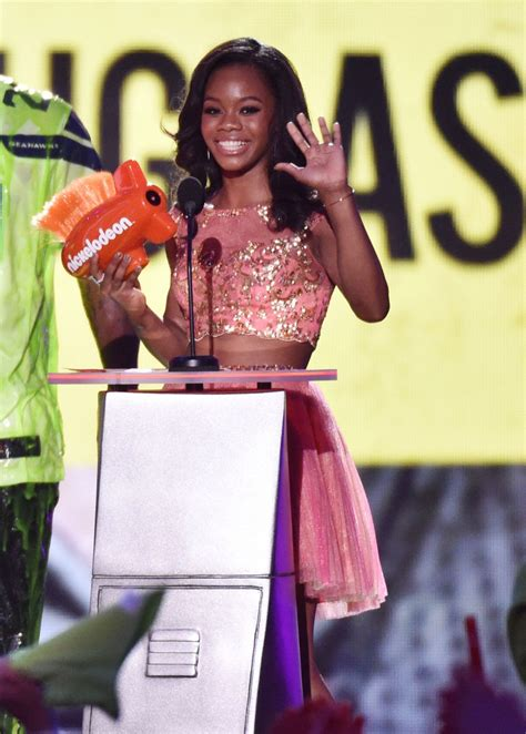 gabby douglas at 2014 kid s choice sports awards in los