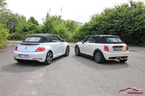 volkswagen mini cooper test dvou stylov 253 ch kabrioletů mini cooper s a volkswagen