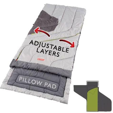 coleman adjustable comfort sleeping bag coleman adjustable comfort adult sleeping bag