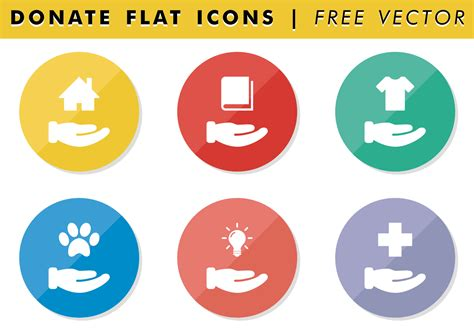 donate flat icons free vector free vector