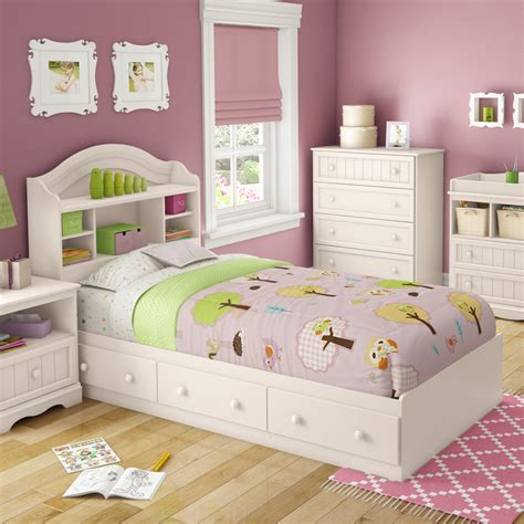 storage bed twin shop south shore furniture savannah white twin platform