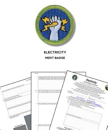 electricity merit badge worksheet requirements