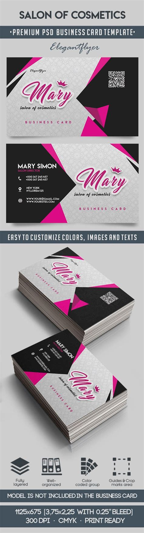 salon business card template psd business card for salon of cosmetics by elegantflyer