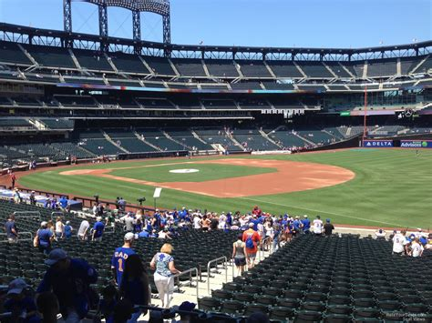 citi field section 109 74 citi field virtual 3d and detailed seating chart